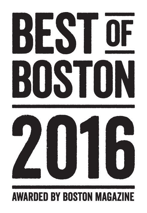 2016 Best of Boston® Winner. Awarded by Boston Magazine.